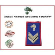 Gradi Tubolari Estivi Carabinieri Ricamati con Fiamma New Vice Brigadiere Art.CC-TA5