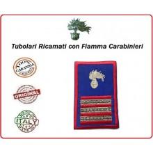 Gradi Tubolari Estivi Carabinieri Ricamati con Fiamma New Maresciallo Aiutante Art.CC-TA10