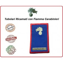 Gradi Tubolari Estivi Carabinieri Ricamati con Fiamma New Maresciallo Art.CC-TA7