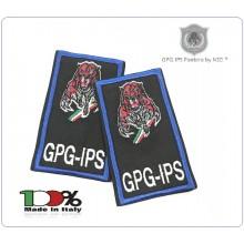 Tubolari Ricamati Bordo Azzurro GPG - GPGIPS  GPG IPS PANTERA® Guardia Particolare Giurata Incaricato di Pubblico Servizio  Art.GPG-T-PANTERA