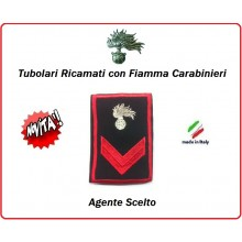 Gradi Tubolari Carabinieri Ricamati con Fiamma New Agente Scelto Art.CC-T2
