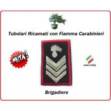 Gradi Tubolari Carabinieri Ricamati con Fiamma New  Brigadiere Art.CC-T6