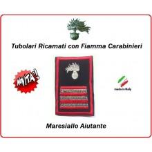 Gradi Tubolari Carabinieri Ricamati con Fiamma New  Maresciallo Aiutante Art.CC-T10
