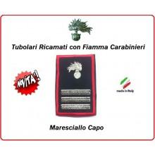 Gradi Tubolari Carabinieri Ricamati con Fiamma New  Maresciallo Capo Art.CC-T9