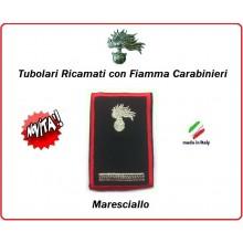 Gradi Tubolari Carabinieri Ricamati con Fiamma New  Maresciallo Art.CC-T7
