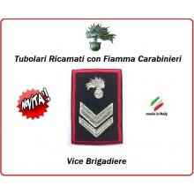 Gradi Tubolari Carabinieri Ricamati con Fiamma New Vice Brigadiere Art.CC-T5