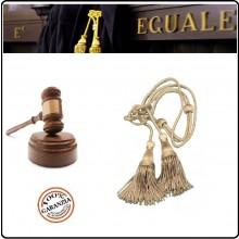 Coppia di Cordoniere Cordonietra per Magistrato di Tribunale in Tessuto Rayon-Lamè Argento Nero Avvocato Art.FAV-C-MT