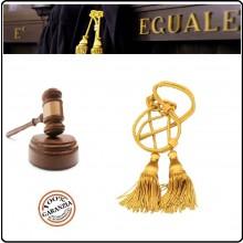 Coppia di Cordoniere Cordonietra per Magistrato Cassazionista o Corte d'appello in tessuto Rayon-Lamè oro Art.FAV-C-O