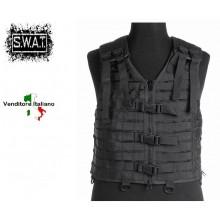 Gilè Tattico Sistema M.O.L.L.E Nero Polizia Carabinieri SWAT Vigilanza MIL TEC Art.13461002