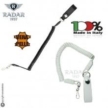 Correggioli per Pistola in Pelle Radar 1957  Italia Bianco o Nero Polizia Carabinieri vigilanza GPG IPS Art. 4086-1180