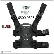 Cosciale con due Lacci alla Cintura e due Lacci alla Coscia Colore Nero Corpi Speciali Polizia Carabinieri GdiF Vigilanza Radar1957 Italia Art.6500-0826