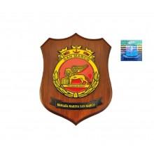 Crest Araldico Brigata Marina San Marco Prodotto Ufficiale Giemme cm. 24 x 18 Art.MM2100