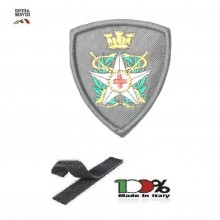 Scudetto Patch Toppa Ricamata a Macchina con Velcro Omerale Croce Rossa Militare Bassa Visibilità Art. OME-6