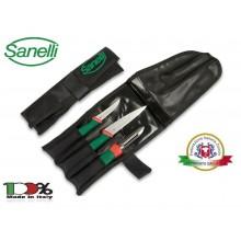 Rotolo 3 Posti Trasporto Coltelli Professionale Cuochi Chef Vuoto Sanelli Art. CFN253