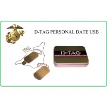 Piastrine Militari Con Chiavetta USB D-Tag Piastrina Digitale Tenere i Dati con se Art.02201