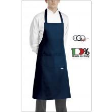 Grembiule Cucina Pettorina con Tascone cm 90x70 Saylor Blu  Ego Chef Italia Art.61030006C