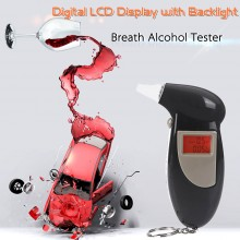 Etilometro Alcol Test Professionale Display LCD Breath Alcohol Analyzer Polizia Digital Breath Alcohol Tester SALVA PATENTE Art.ALI-H10005
