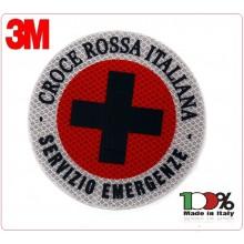Adesivo di Ricambio 3M Per Paletta Rosso CROCE ROSSA ITALIANA SEVIZIO EMERGENZA Art.AD-CRISE