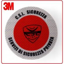 Adesivo 3M Per Paletta Rosso C.S.L. Sicurezza Sicurezza Privata   Art.R0CSL