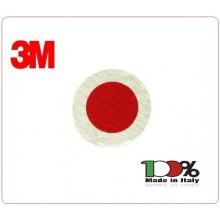 Adesivo di Ricambio per Paletta cm 15.50 classe III° Omologato A.V. Alta Rifarzione Nido D'ape Rosso Neutro Privo Di Scritte  Art.R002226
