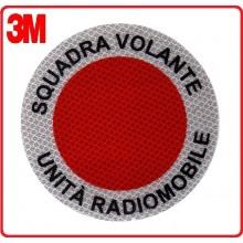Adesivo Per Paletta Rosso Squadra Volante Unità Radiomobile Art.NSD-DISC-S