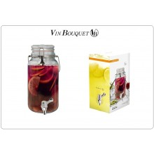 Dispenser in Vetro per le Vostre Creazioni 15 x 15 x 31,5 cm Vin Bouquet Art.FIH168