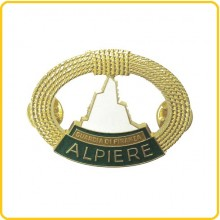 Distintivo in metallo Alpiere Guardia di Finanza Oro Art.GDF-AO