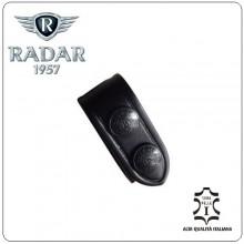 Distanziale Distanziali Radar 1957 Cuoio Doppio Bottone Passante per Cinturone Nero Confezione 1 Pezzo Art.4086-0600