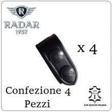 Distanziale Distanziali Radar 1957 Cuoio Doppio Bottone Passante per Cinturone Nero Confezione 4 Pezzi Art.4086-0600-1