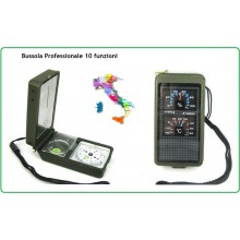Bussola Professionale 10 Funzioni Trekking Caccia Militare Soft Air Art.15799700
