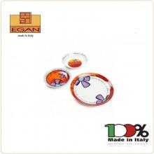 Servizio 18 Piatti Pane Amore e Fantasia Prodotto Italiano 100% Egan Art.PAF61T/18X