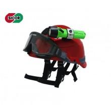 Casco Elmo Protettivo Completo di Occhiali Antifumo Sicor Professionale Antincendio Boschivo Soccorso Tecnico Protezione Civile EOM R5840X – EOM Art. 5423200101