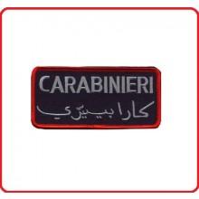 Patch per Tuta Operativa Missione Estero Carabinieri ITALIANO ARABO Blu  Art.06513