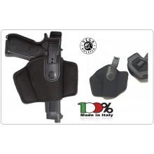 Fondina a Canna Scoperta da Cintura in Cordura Nera Vega holster Art.FA2