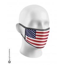 Mascherina Protettiva Modello Unisex Specifica Bandiera Americana Lavabile 200 Volte  Art. NSD-C1