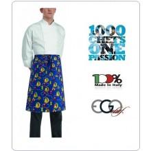 Grembiule Falda Banconiere Con Tascone Owls gufi cm 70x70 Ego Chef Italia Art.6101142A