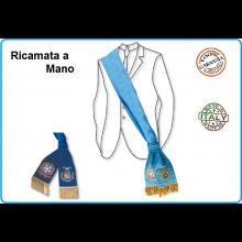 Fascia Ricamata a Mano per Presidente della Provincia Blu o Azzurra  Repubblica + logo Provincia Art.NSD-PROV