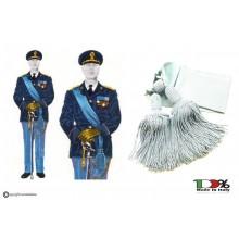 Fascia Azzurra Cerimonia Ufficiali con Pom Pom Polizia di Stato Uniforme Storica  Art.NSD-F2A