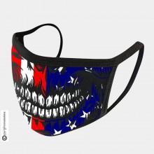 Mascherina Protettiva Modello Unisex Specifica Teschio Americano Skull US Lavabile 200 Volte COVID-19 Art. NSD-C4