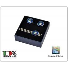Set Gemelli Camicia + Fermacravatta Logo Frecce Tricolori  Prodotto Ufficiale Italiano Art.FT0142