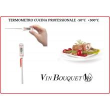 Termometro Digitale Professionale Cuoco Chef Cucina Fritti Arrosti -50°C  + 300°C Vin Bouquet Art.FIH023