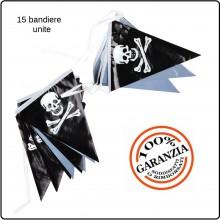Fila di Bandiere Teschio Pirata Per Feste Manifestazioni Art.447225-166