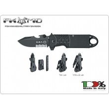 Coltello Emergenza FOX E.R.T. RESCUE KNIFE BLACK CLIP POINT SERRATED BLADE FX213TS FX 213TS Art. FX-213TS