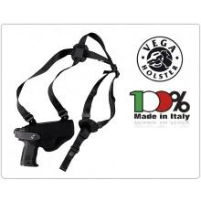 Fondina Professionale Ascellare Orizzontale e da Cintura Cordura per Polizia Carabinieri Vigilanza Vega Holster Italia Art.FO2