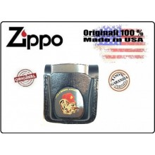 Fodero Fondina in Pelle Nera per Accendino Zippo® Originale Made in USA Art.ZIP-1