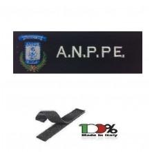 Patch Toppa Ricamata Con Velcro cm 5,00x15,00 Ass. Nazionale Polizia Penitenziaria A.N.P.P.E. NEW Art.15-5-ANPPE