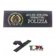 Patch Toppa Ricamo Con Velcro cm 5,00x15,00 AEOP Associazione Europea Operatori PS Art.15-5-AEOP