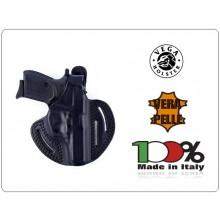 Fondina a Sgancio Rapido Professionale Pelle Vega Holster Italia operativi Vigilanza Polizia Carabinieri GdF Art.H1