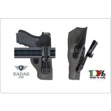 Fondine Interno Pantaloni Invisibile Microfibra Radar 1957 Italia Beretta Glock Colt Polizia Carabinieri Vigilanza Art.5074