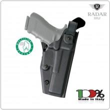 Fondina in Polimero Fast D-Shell 6107  per Glock 19 22 23  Beretta 92/98 APX Grado di Ritenzione 3 Radar 1957 Italia Art.6107